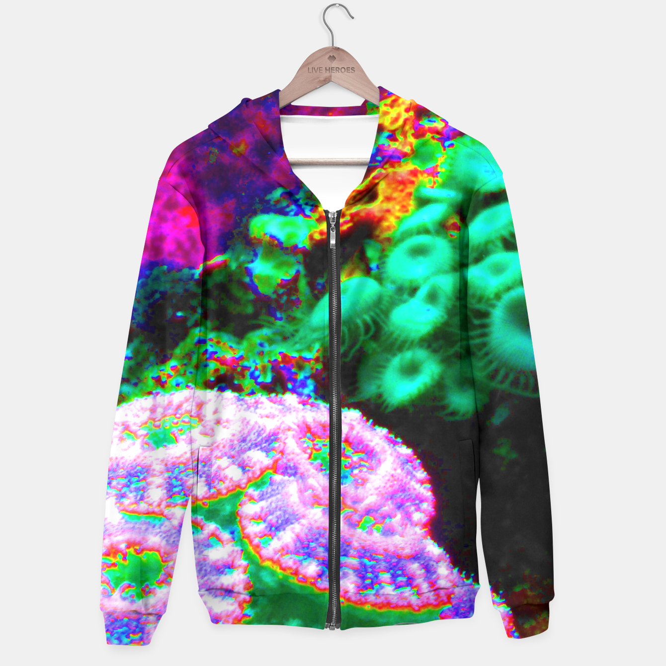 Image of Psychedelic coral landscape  Hoodie - Live Heroes