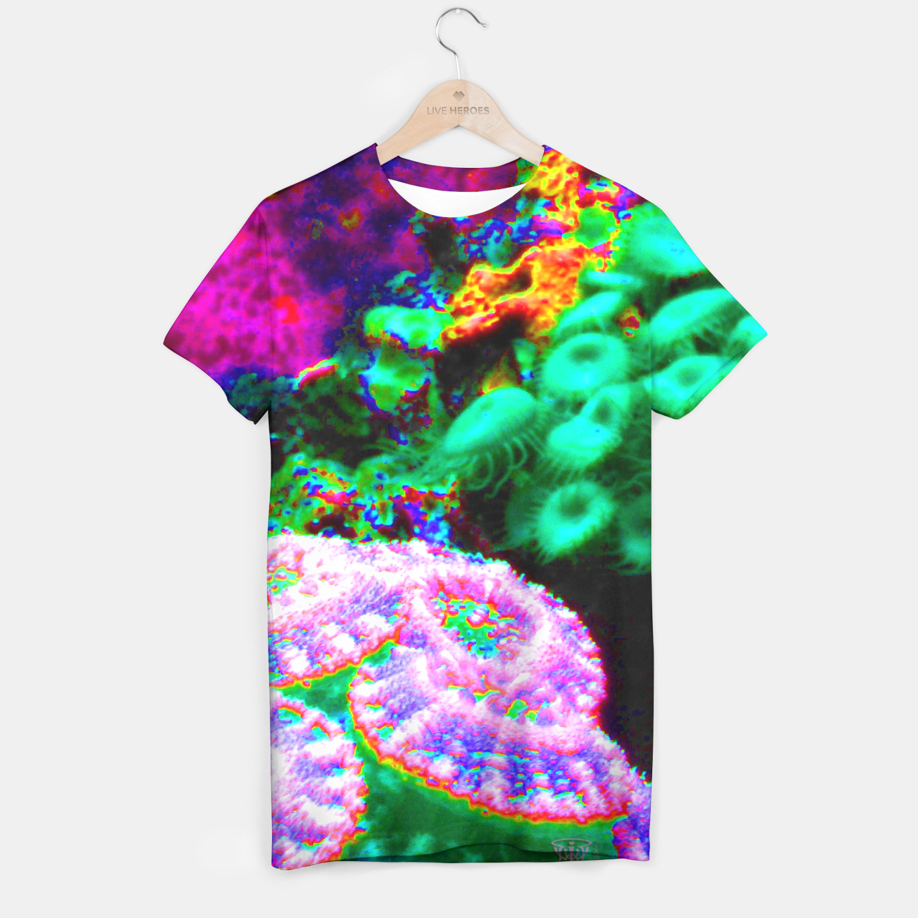 Image of Psychedelic coral landscape  T-shirt - Live Heroes