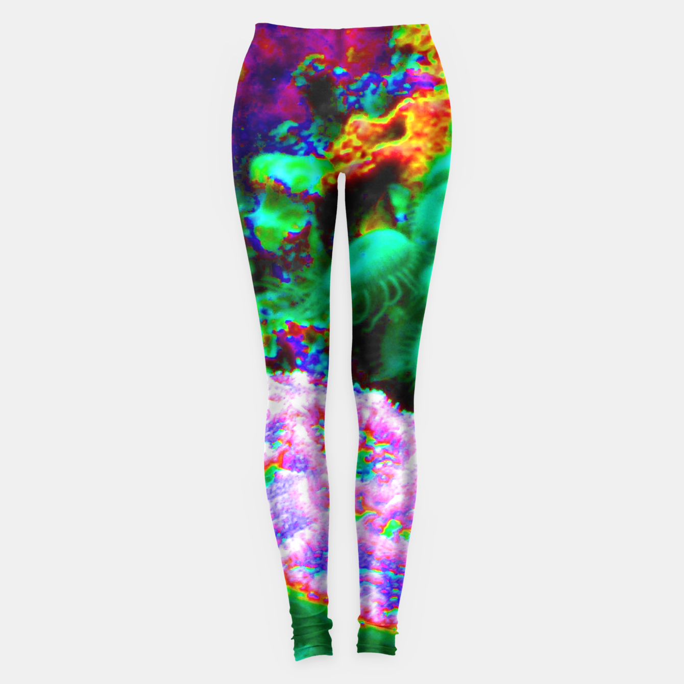 Image of Psychedelic coral landscape  Leggings - Live Heroes