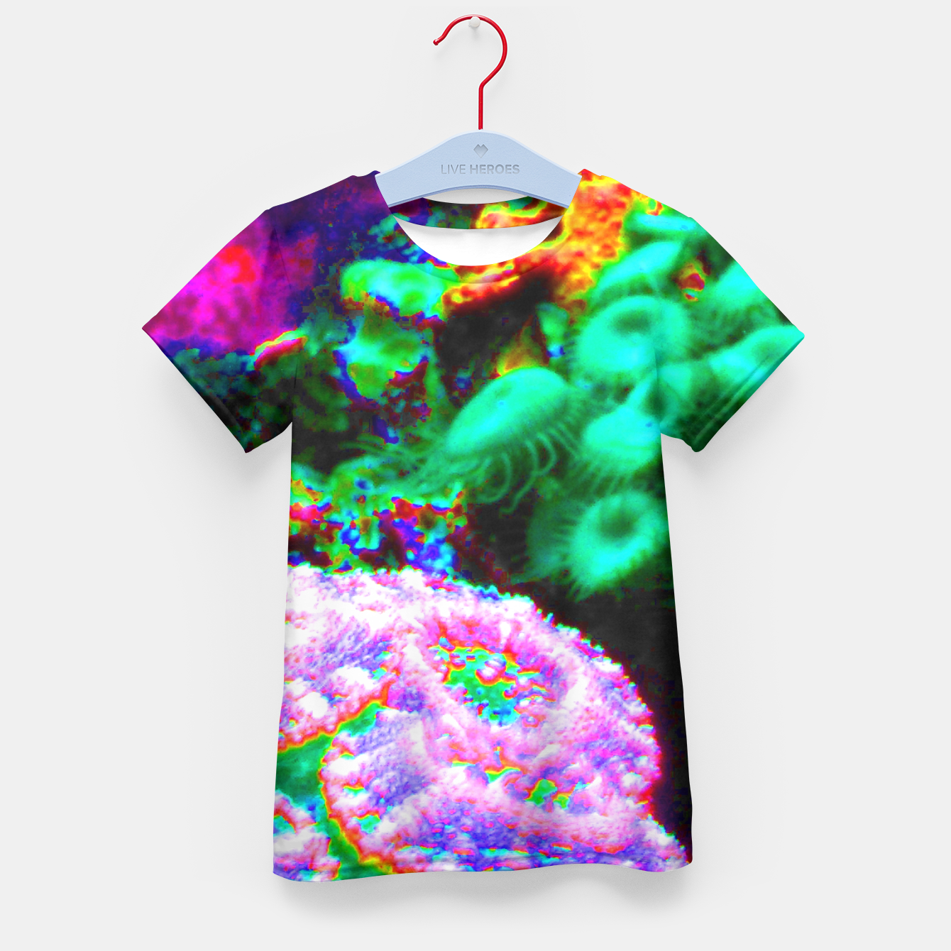 Image of Psychedelic coral landscape  Kid's T-shirt - Live Heroes