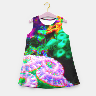 Thumbnail image of Psychedelic coral landscape  Girl's Summer Dress, Live Heroes