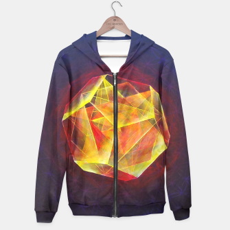 Thumbnail image of Art-I-Fact Cotton zip up hoodie, Live Heroes