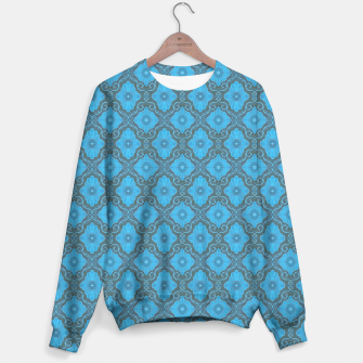 Sky-blue Flowers Sweater thumbnail image