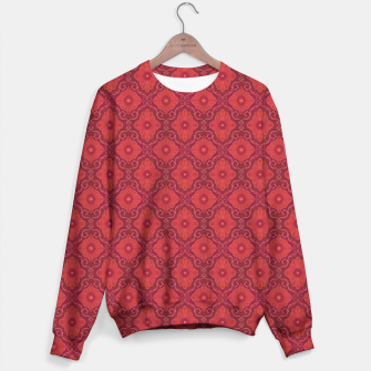 Red Flowers, floral arabesque Sweater thumbnail image