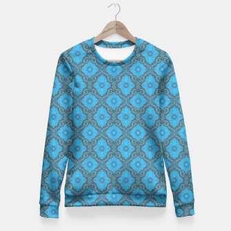 Sky-blue Flowers Fitted Waist Sweater thumbnail image