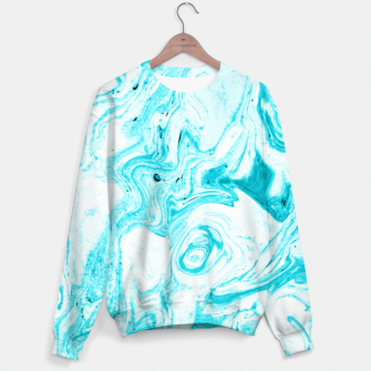 Thumbnail image of Ocean Blue Marble Sweater, Live Heroes