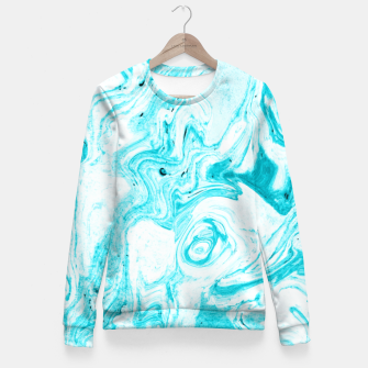 Thumbnail image of Ocean Blue Marble Fitted Waist Sweater, Live Heroes