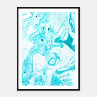 Thumbnail image of Ocean Blue Marble Framed poster, Live Heroes