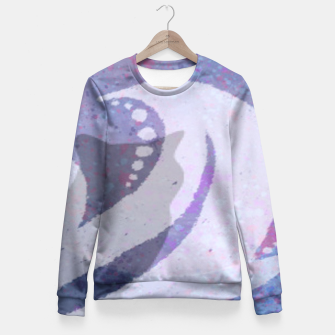 Thumbnail image of Midnight Meow Fitted Waist Sweater, Live Heroes