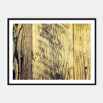 Thumbnail image of brown vintage wood texture Framed poster, Live Heroes