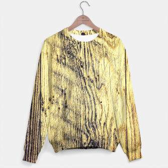 Thumbnail image of brown vintage wood texture Sweater, Live Heroes