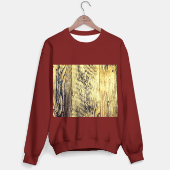 Thumbnail image of brown vintage wood texture Sweater regular, Live Heroes