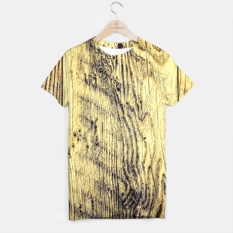 Thumbnail image of brown vintage wood texture T-shirt, Live Heroes