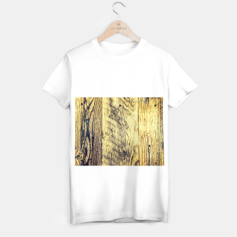 Thumbnail image of brown vintage wood texture T-shirt regular, Live Heroes