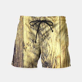 Thumbnail image of brown vintage wood texture Swim Shorts, Live Heroes