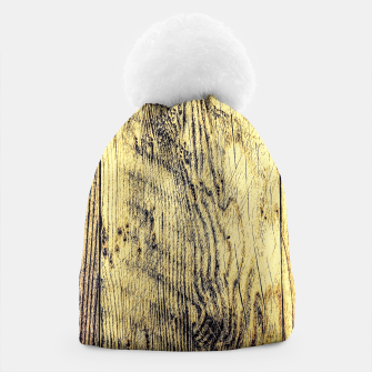 Thumbnail image of brown vintage wood texture Beanie, Live Heroes