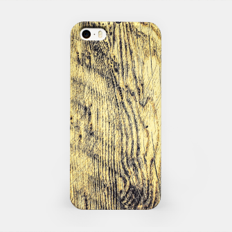 Thumbnail image of brown vintage wood texture iPhone Case, Live Heroes