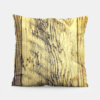Thumbnail image of brown vintage wood texture Pillow, Live Heroes