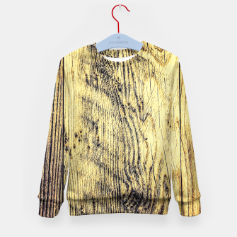 Thumbnail image of brown vintage wood texture Kid's Sweater, Live Heroes