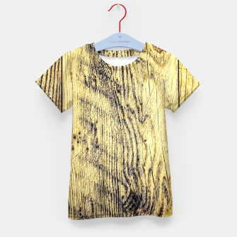 Thumbnail image of brown vintage wood texture Kid's T-shirt, Live Heroes