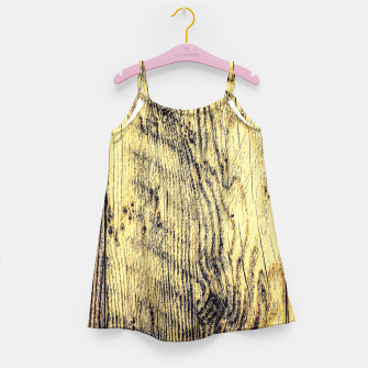 brown vintage wood texture Girl's Dress thumbnail image