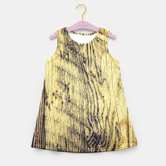 brown vintage wood texture Girl's Summer Dress thumbnail image