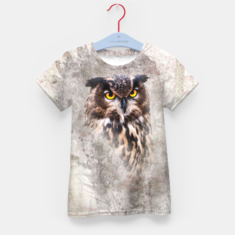 Thumbnail image of Watercolor Owl T-Shirt für Kinder, Live Heroes