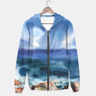 Miniatur Only the sound of the sea Sudadera con capucha, Live Heroes