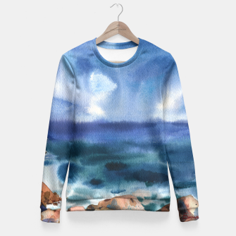 Miniatur Only the sound of the sea Sudadera entallada, Live Heroes