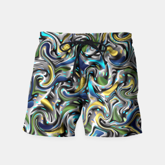 Miniaturka modern trendy pattern in colorful festive colors Badeshorts, Live Heroes