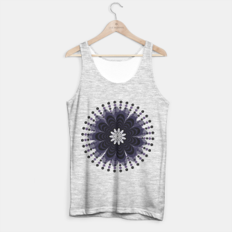 Thumbnail image of Graphic Mandala Flower Lilac Tank Top regular, Live Heroes