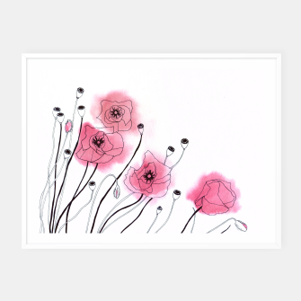 Thumbnail image of Poppies Framed poster, Live Heroes