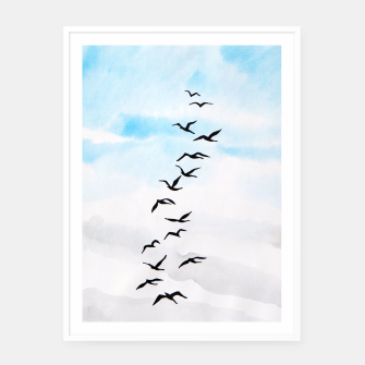 Thumbnail image of Birds Framed poster, Live Heroes