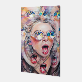 Miniaturka Kaleidoscopic Perception Canvas, Live Heroes