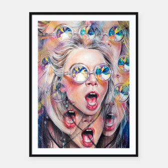 Thumbnail image of Kaleidoscopic Perception Framed poster, Live Heroes
