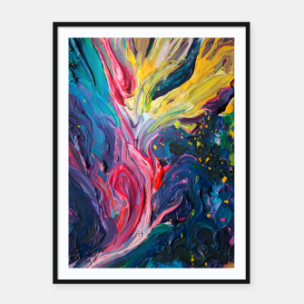 Thumbnail image of Bird Flower - Rainbow Abstraction. Framed poster, Live Heroes