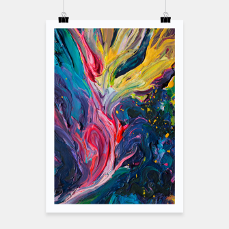 Thumbnail image of Bird Flower - Rainbow Abstraction. Poster, Live Heroes