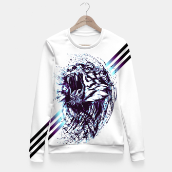 Thumbnail image of blue.TIGER-G! Fitted Waist Sweater, Live Heroes
