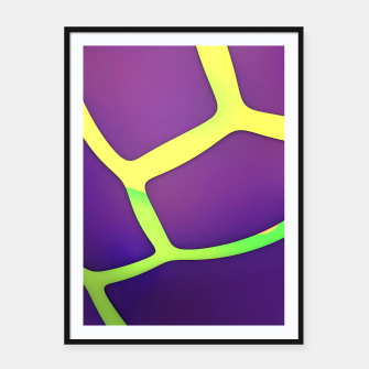 Thumbnail image of Eggplant Framed poster, Live Heroes