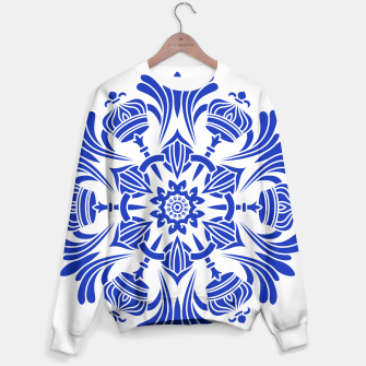 Miniatur Ornaments Royal Crown Mandala Blue Sweatshirt, Live Heroes
