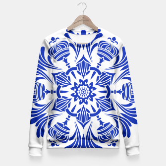 Miniatur Ornaments Royal Crown Mandala Blue Taillierte Sweatshirt, Live Heroes