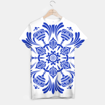 Miniatur Ornaments Royal Crown Mandala Blue T-Shirt, Live Heroes