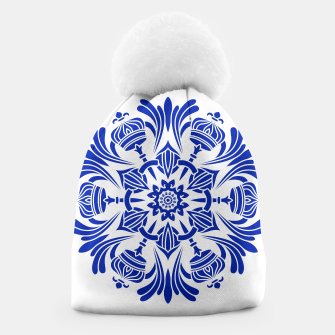 Miniatur Ornaments Royal Crown Mandala Blue Mütze, Live Heroes
