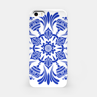 Miniatur Ornaments Royal Crown Mandala Blue iPhone-Hülle, Live Heroes