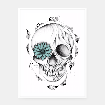Thumbnail image of Poetic Wooden Skull  Affiche et cadre, Live Heroes