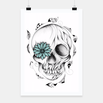 Thumbnail image of Poetic Wooden Skull  Affiche, Live Heroes