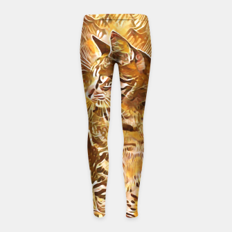 Miniatur Abstract Painting CAT Brown Orange Kinder-Leggins, Live Heroes