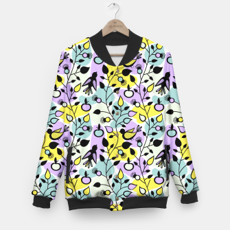 Miniatur Abstract Spring Flowers and Birds Pattern College-Jacke, Live Heroes