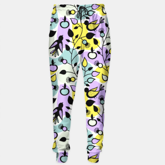 Miniatur Abstract Spring Flowers and Birds Pattern Trainingshose, Live Heroes
