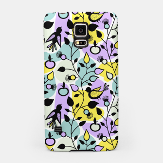 Miniatur Abstract Spring Flowers and Birds Pattern Handyhülle für Samsung, Live Heroes